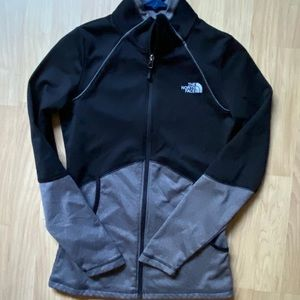 The north face zip up jacket